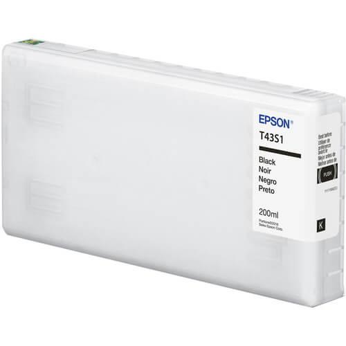 Cartucho Epson de tinta preta de 200 ml T43S120